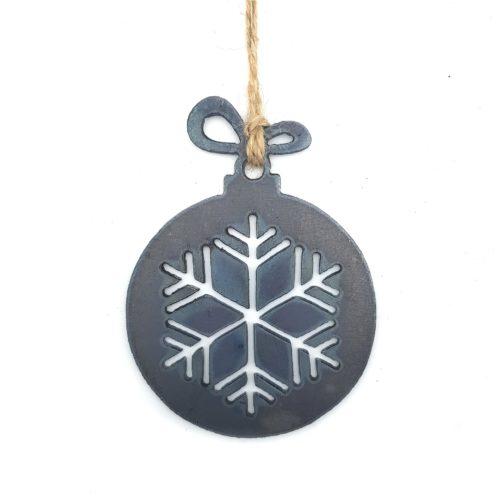 Weihnachtsbaumkugel Schneeflocke